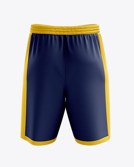 Basketball Shorts Mockup - Front & Back View