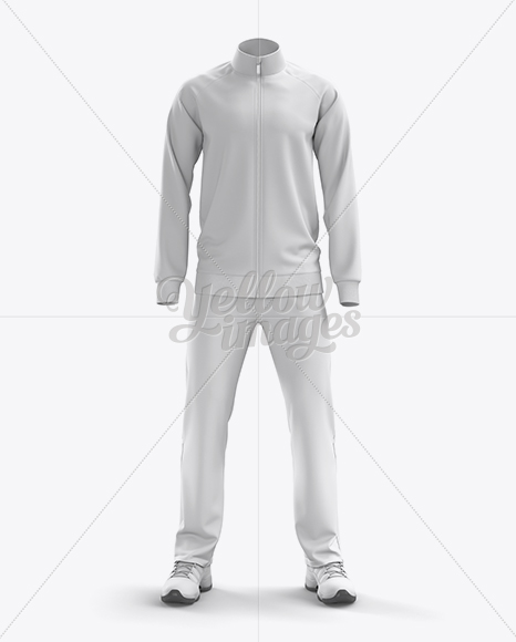 Download Mens Long Sleeve Track Jacket Mockup Back View Yellowimages