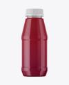 Plastic Bottle With Berry Juice Mockup