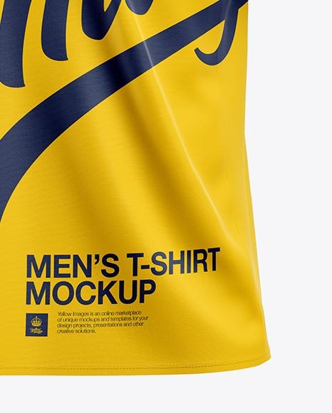 Men's T-Shirt Mockup - Half Side View