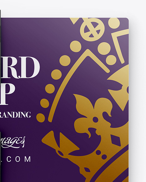 Gift Card in Carton Cover Mockup - Top View (Half Visible)