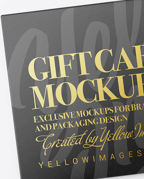 Gift Card in Carton Cover Mockup - Top View