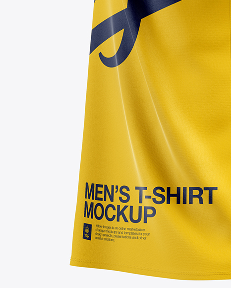 Men's T-Shirt Mockup - Side View