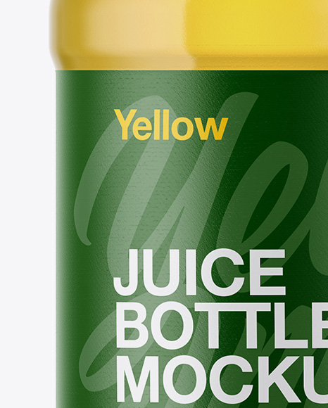 Plastic Bottle With Grape Juice Mockup
