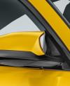 BMW M4 Mockup - Half Side View