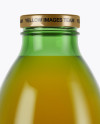 750ml Green Glass Orange Drink Bottle Mockup