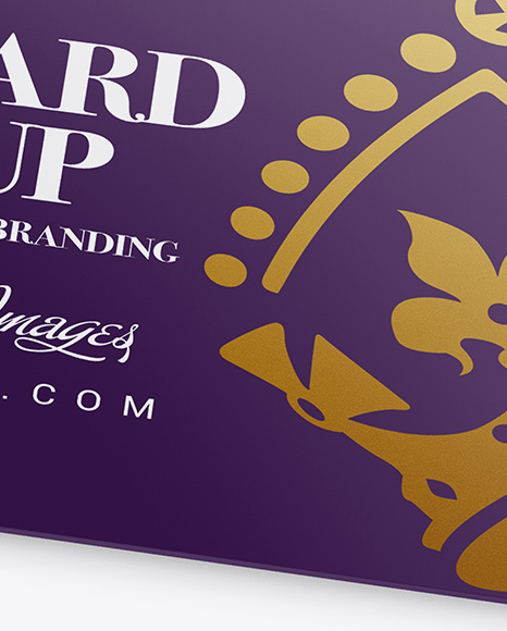 Gift Card in Carton Cover Mockup - Front View (High-Angle Shot)