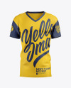 Men's T-Shirt With V-Neck Mockup - Front View
