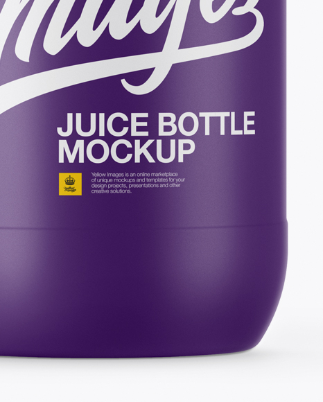 750ml Matte Juice Bottle Mockup