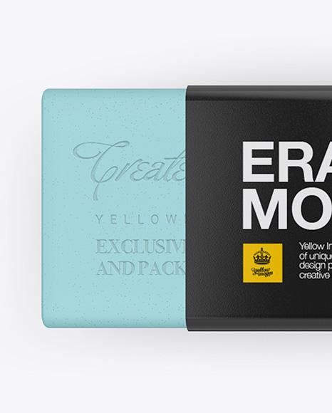 Eraser Mockup - Top View
