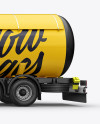Mercedes-Benz Gas Tank Truck Mockup - Left Side View