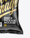 Glossy Snack Package Mockup - Back View
