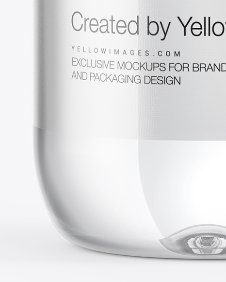 Clear Water Bottle with Sport Cap Mockup
