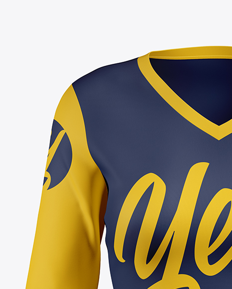 Women's Baseball T-shirt with Long Sleeves Mockup - Front View
