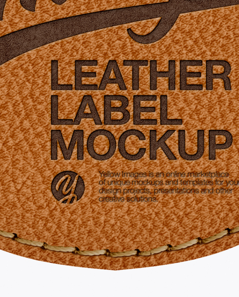 Download Leather Label With Rope Mockup In Object Mockups On Yellow Images Object Mockups PSD Mockup Templates