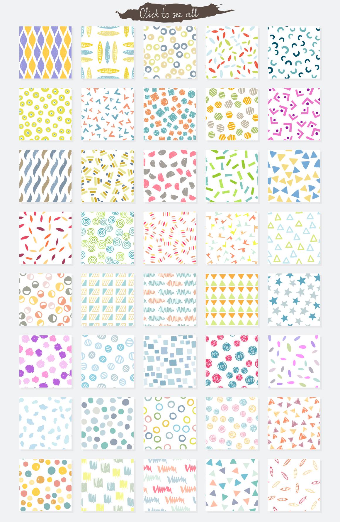 Vector seamless patterns
