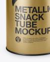 Metallic Tube Mockup (High-Angle Shot)