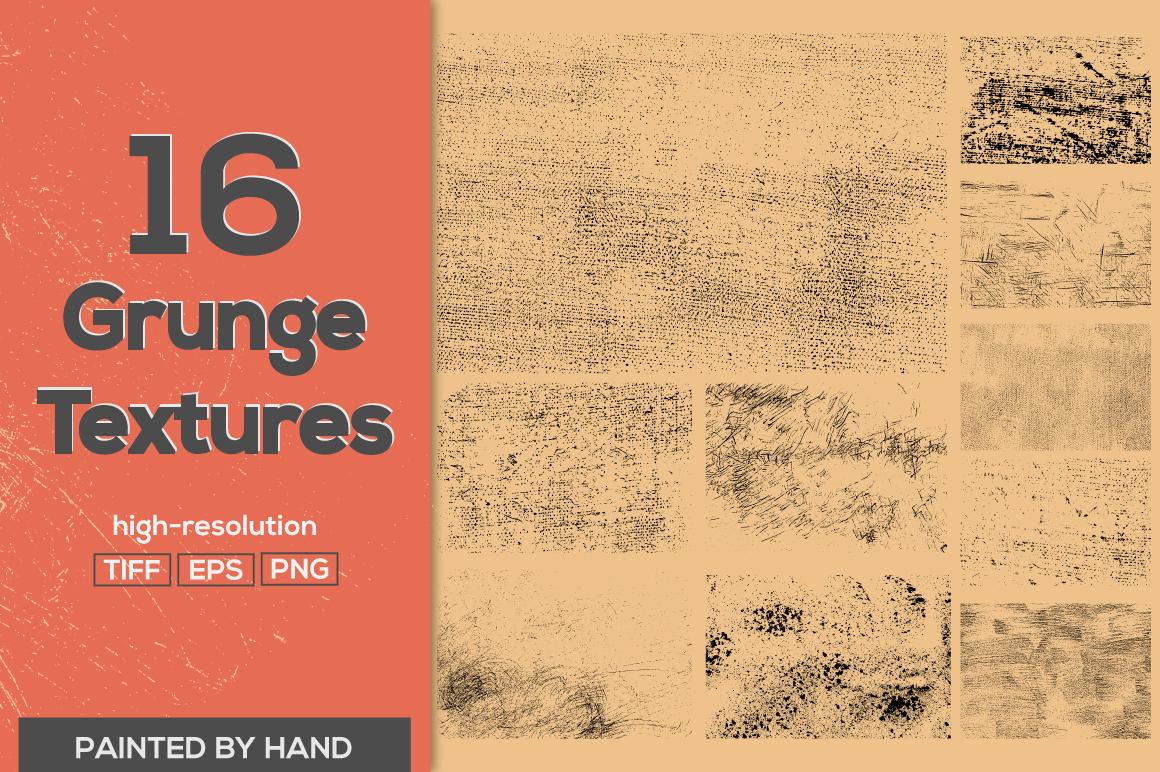 16 Vector Grunge Textures