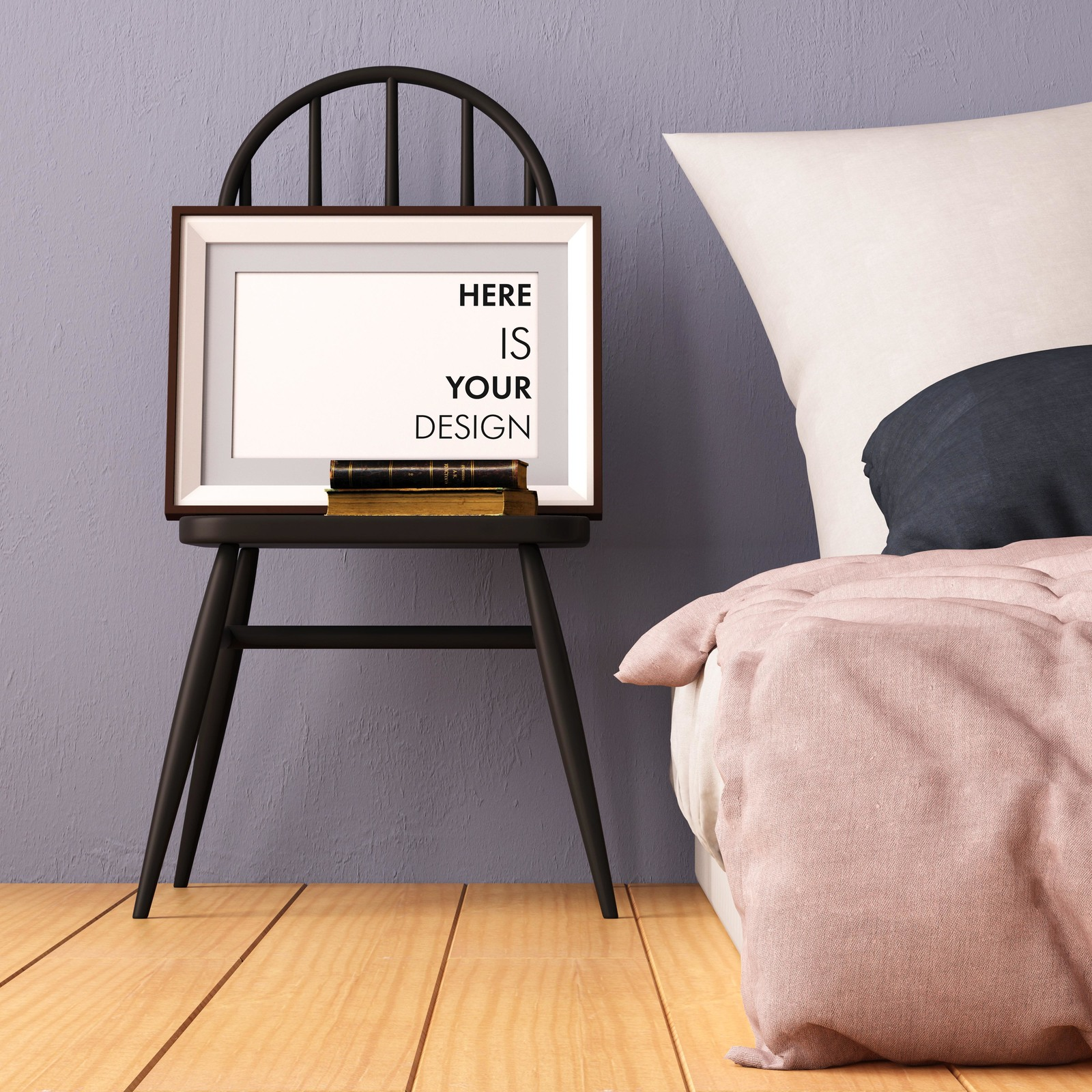 8 mockups posters in the bedroom