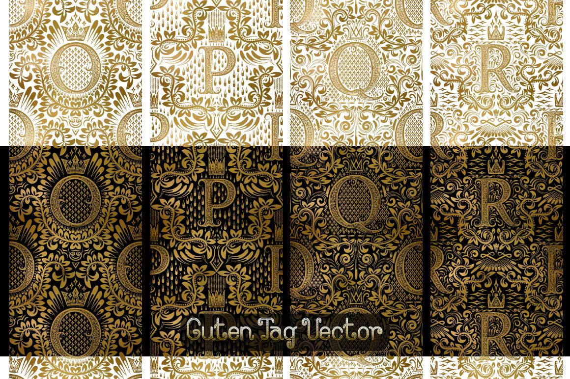 26 alphabetic seamless patterns