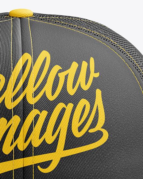 Download Snapback Trucker Cap Mockup Left Side View Yellowimages