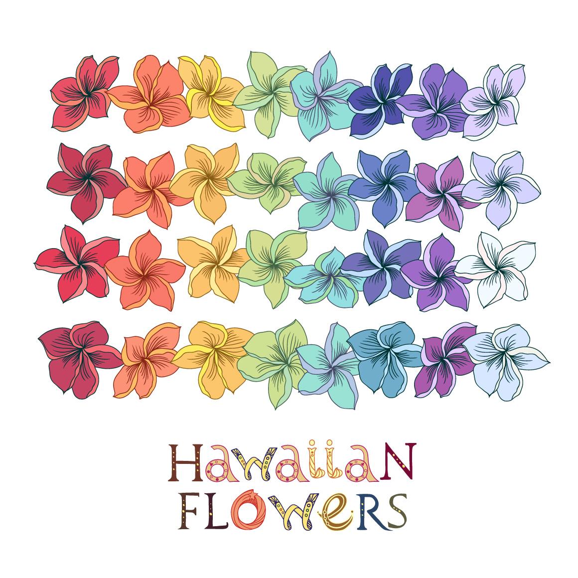 Ukulele set with Hawaiian patterns and elements