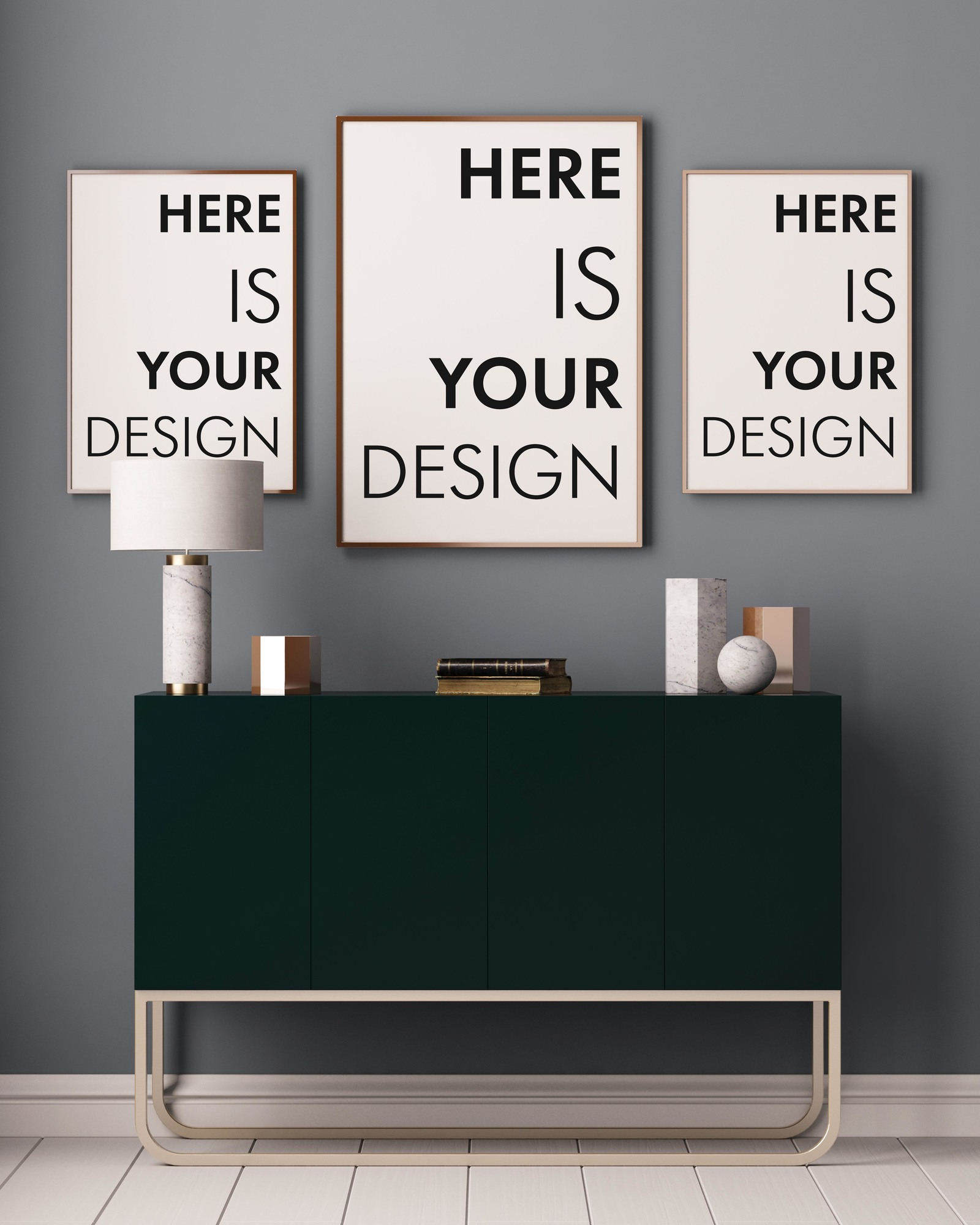 15 mockup of posters in the interior