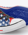 2 High-Top Canvas Sneakers Mockup - Half Side View