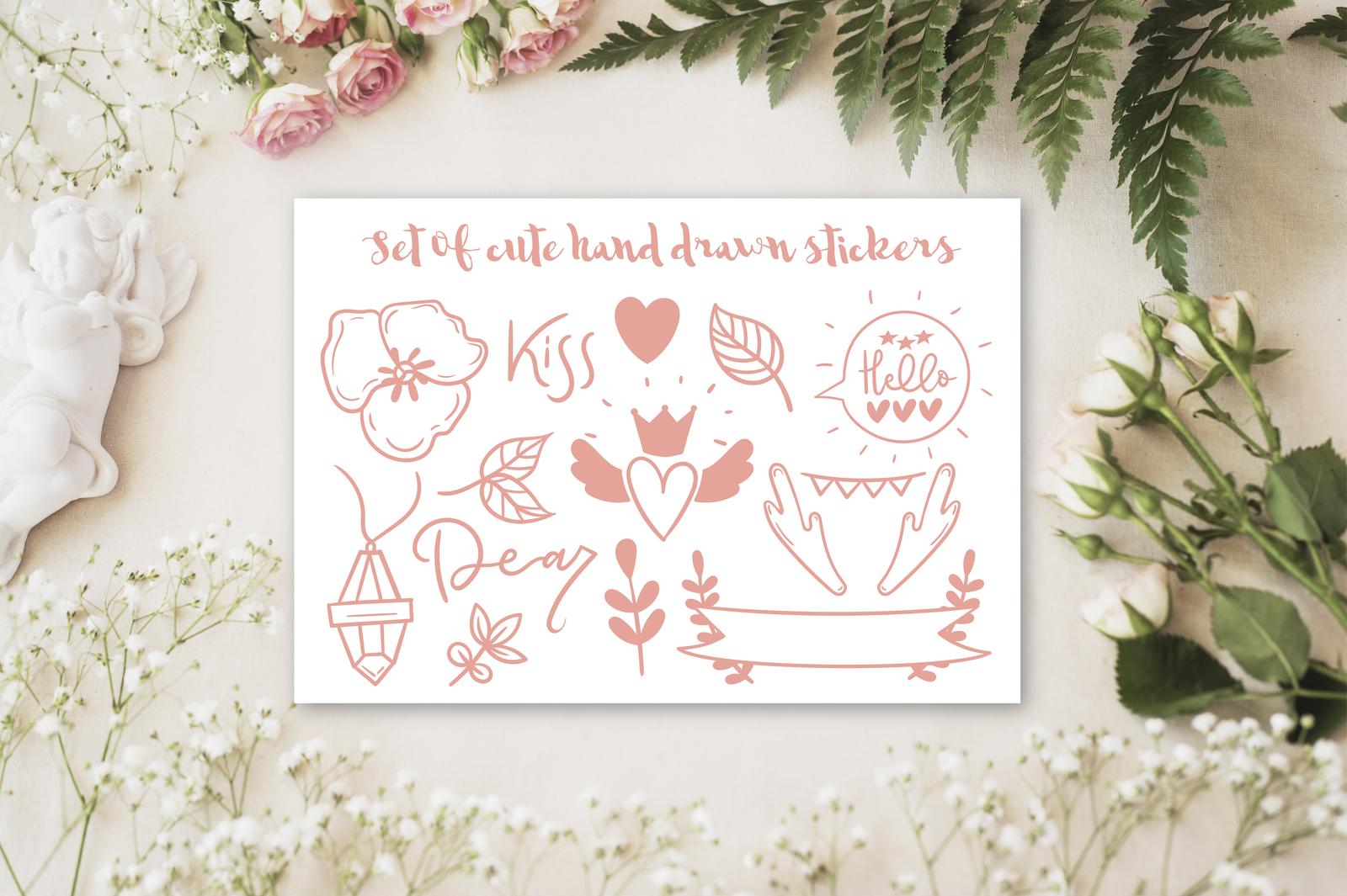 Set of cute boho doodles