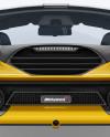 McLaren 720S Mockup - Back View