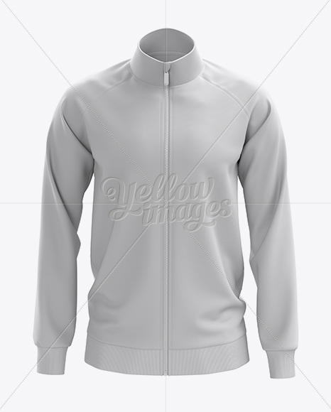 Men's Training Jacket Mockup / Front View