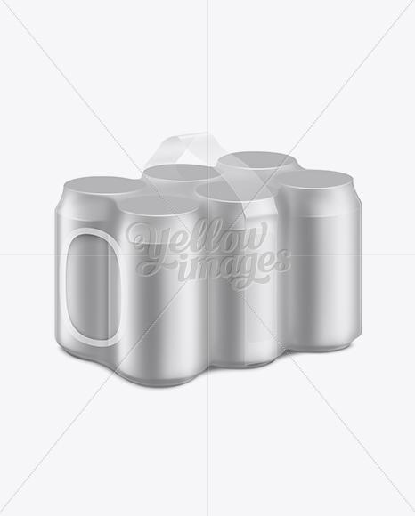 Aluminum Can 6 Pack Mockup