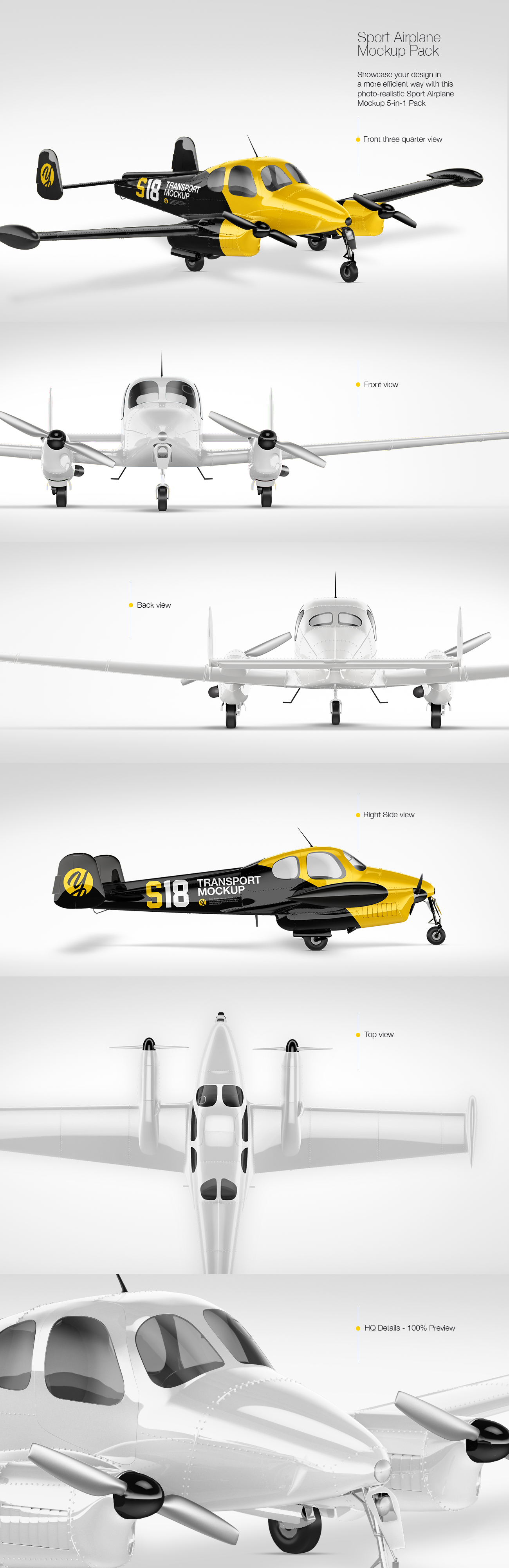 Sport Airplane Mockup Pack