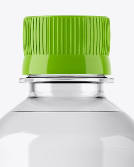 500ml Clear PET Bottle Mockup