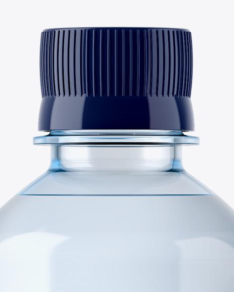 500ml Blue PET Water Bottle Mockup