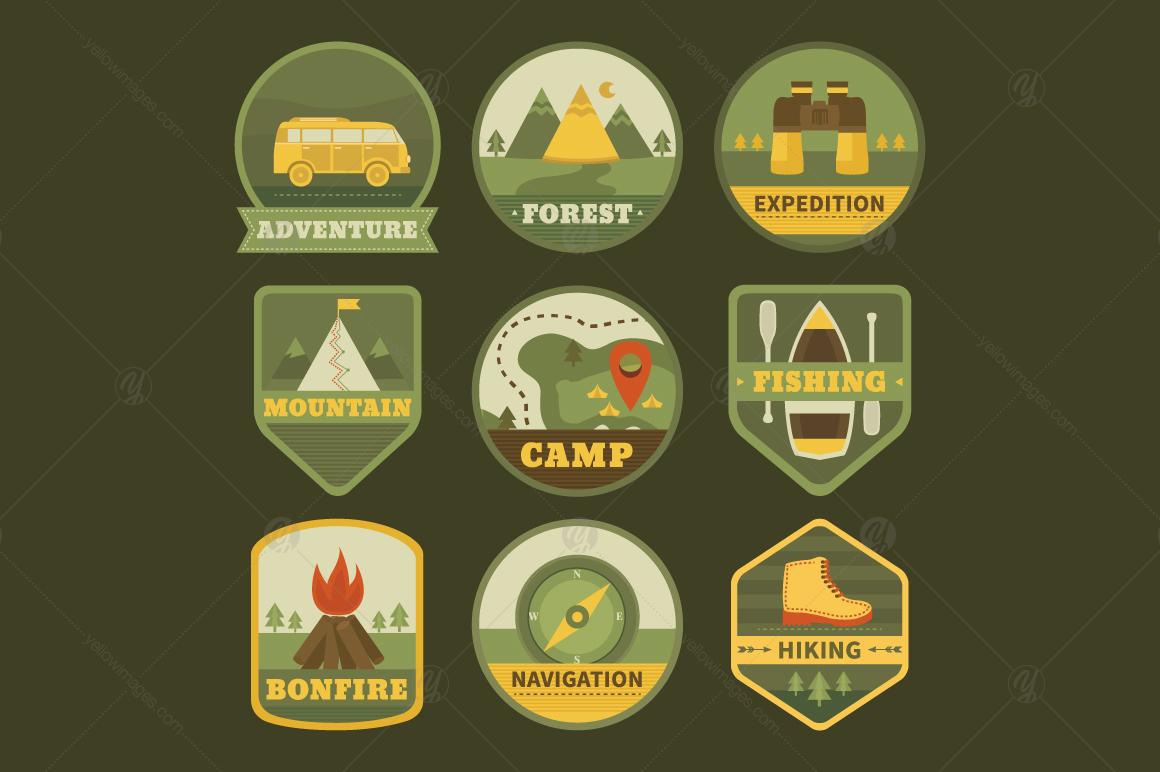 18 Camping logos (badges) templates