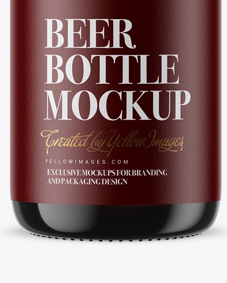 Dark Amber Glass Beugel Bottle Mockup