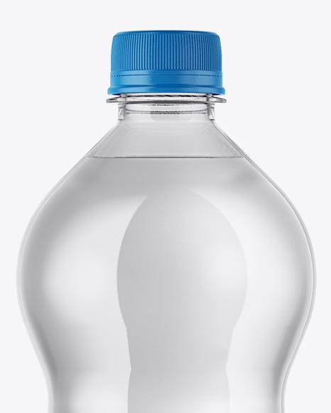 Clear PET 1L Water Bottle Mockup