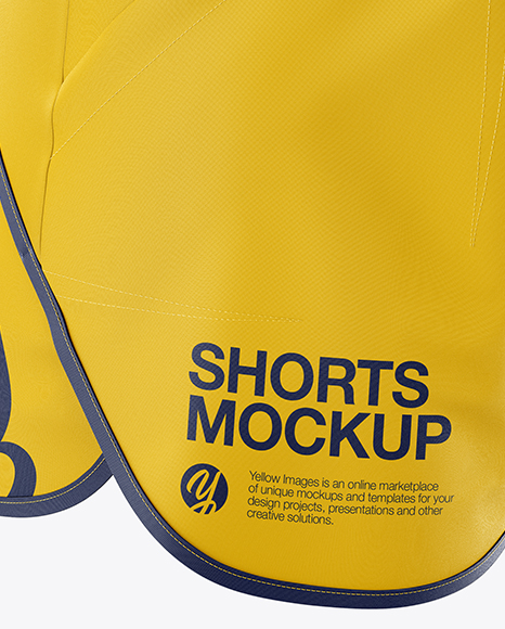 Fitness Shorts Mockup - Half Side View