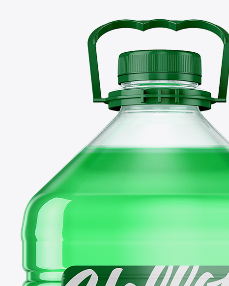 5L Clear PET Bottle Mockup