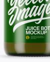 Green Glass Juice Bottle Mockup
