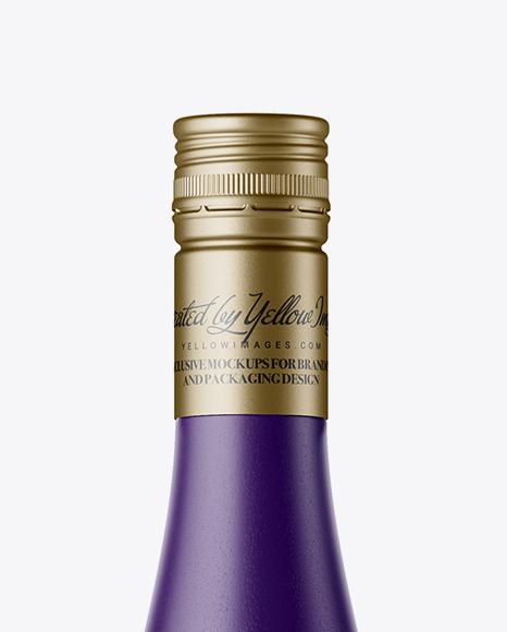 Matte Ceramic Wine Bottle Mockup