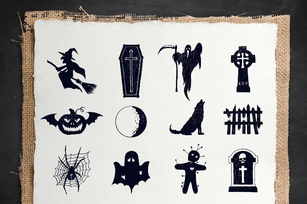Halloween. 50 Hand Drawn Objects