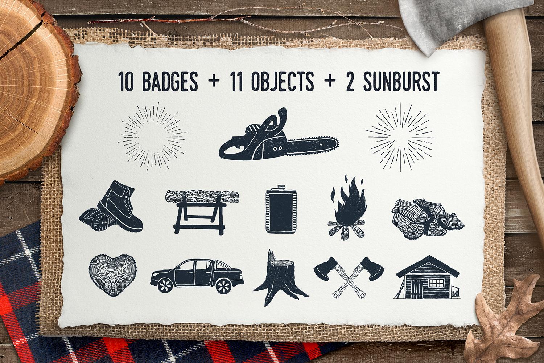 Lumberjack. Vintage Badges (part 1)