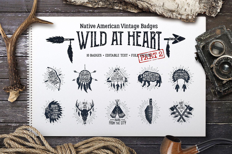 Wild at Heart (Vintage Badges/part2)