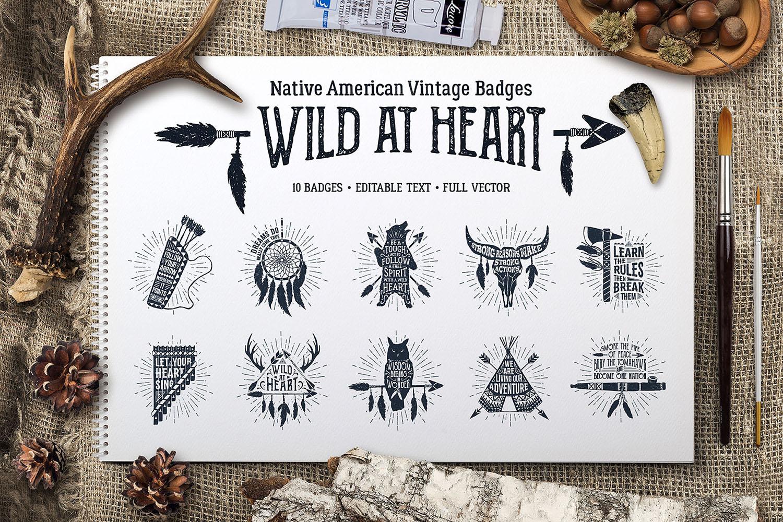 Wild at Heart (Vintage Badges/part1)