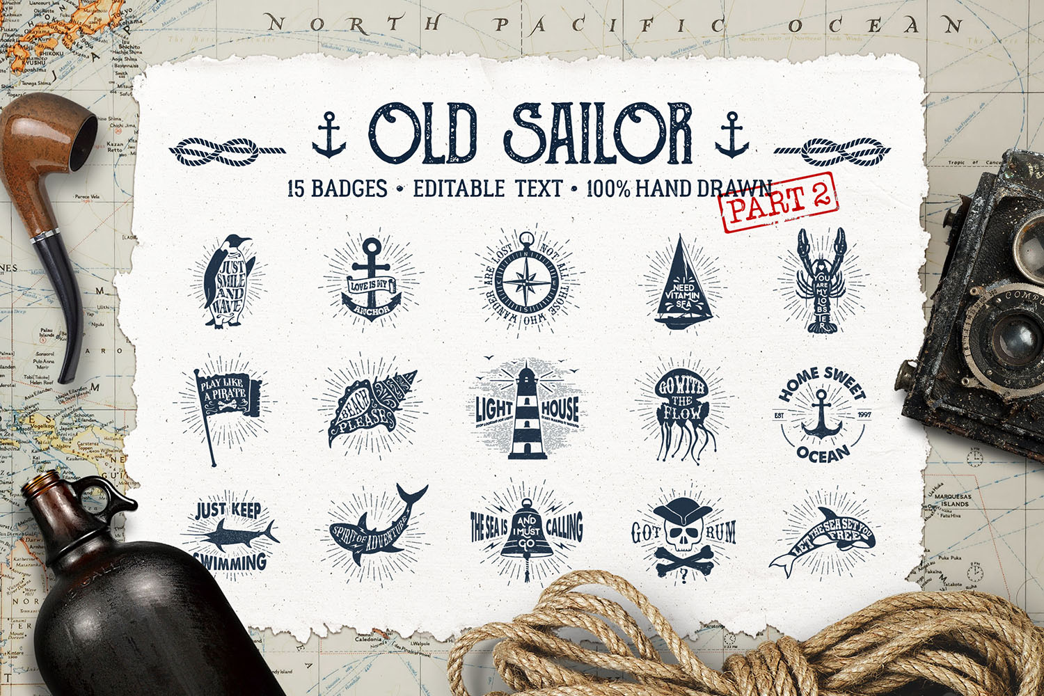 Old Sailor (Vintage Badges/part2)