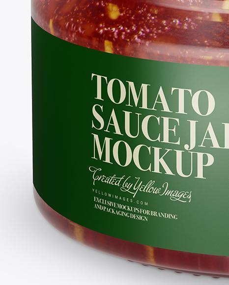 Download Clear Glass Jar With Pesto Sauce Mockup High Angle Shot PSD - Free PSD Mockup Templates