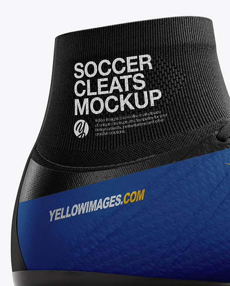 Download Cuffed Soccer Cleat Mockup Inside View Yellowimages