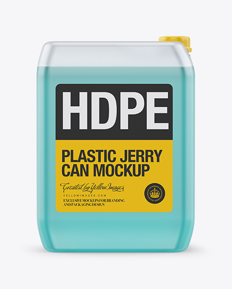 Plastic Transparent Jerrycan Mockup - Front & Side Views